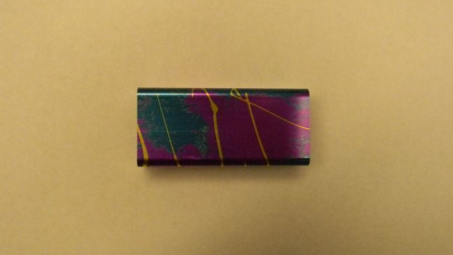 Color Anodized Aluminum Part