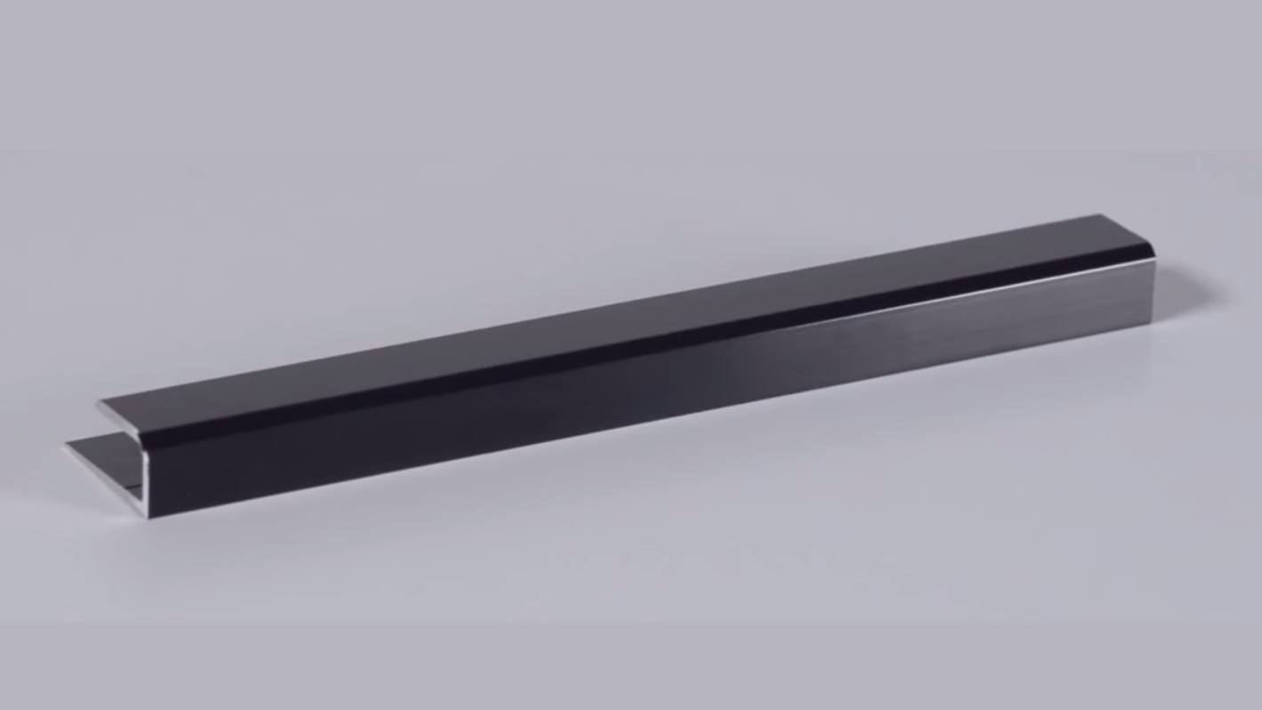 Brite Black Anodized Aluminum Channel