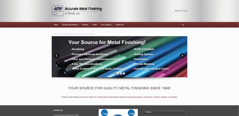 Accurate Metal Finishing of Florida, Inc
