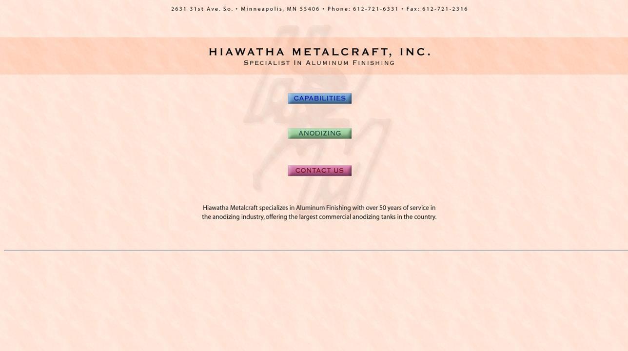 Hiawatha Metalcraft, Inc.
