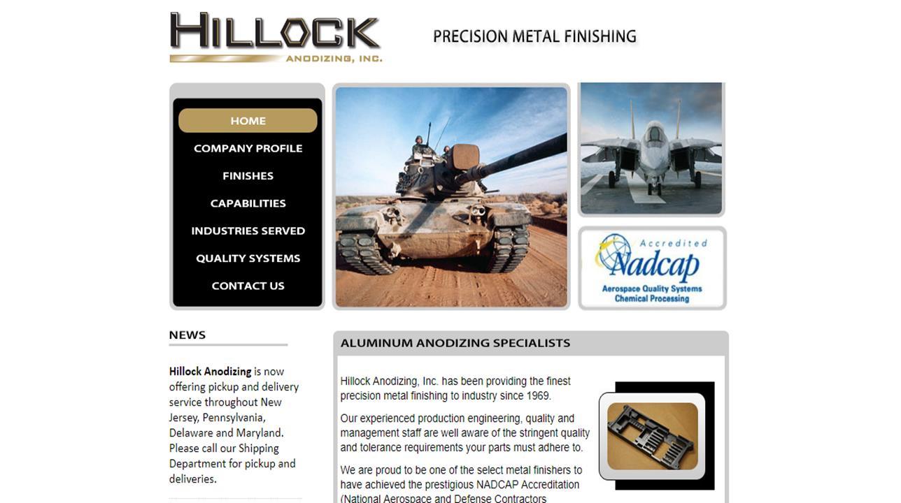 Hillock Anodizing, Inc.