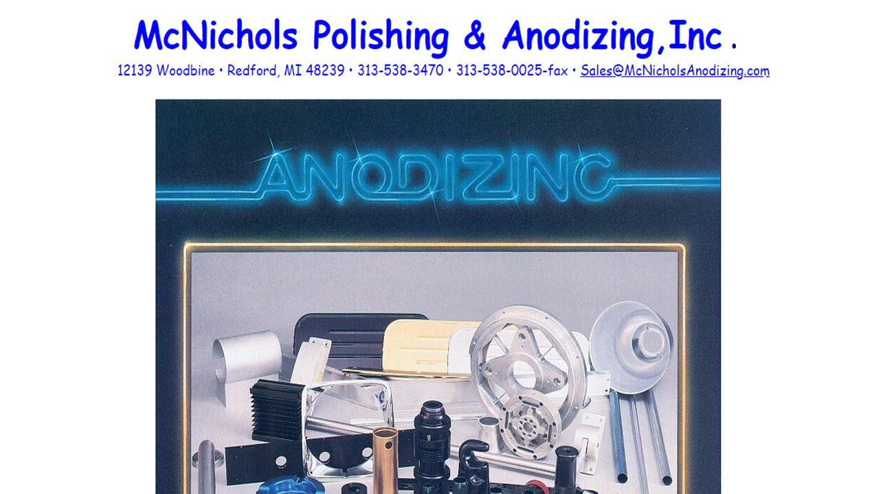 McNichols Polishing & Anodizing, Inc.