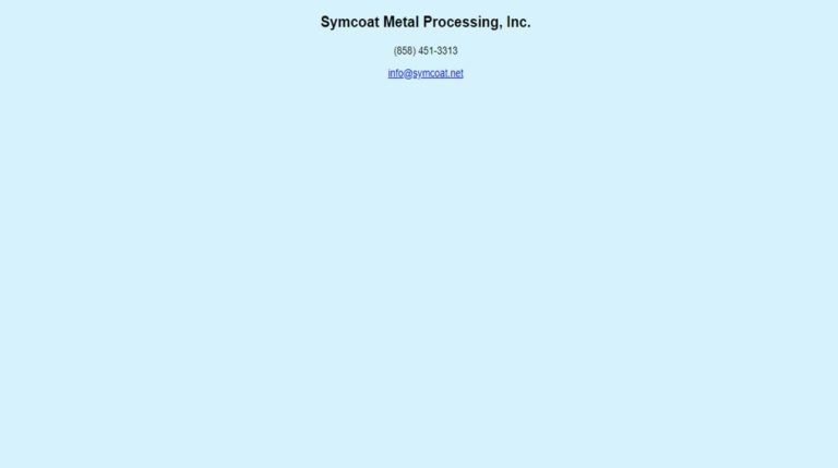 Symcoat Metal Processing, Inc.