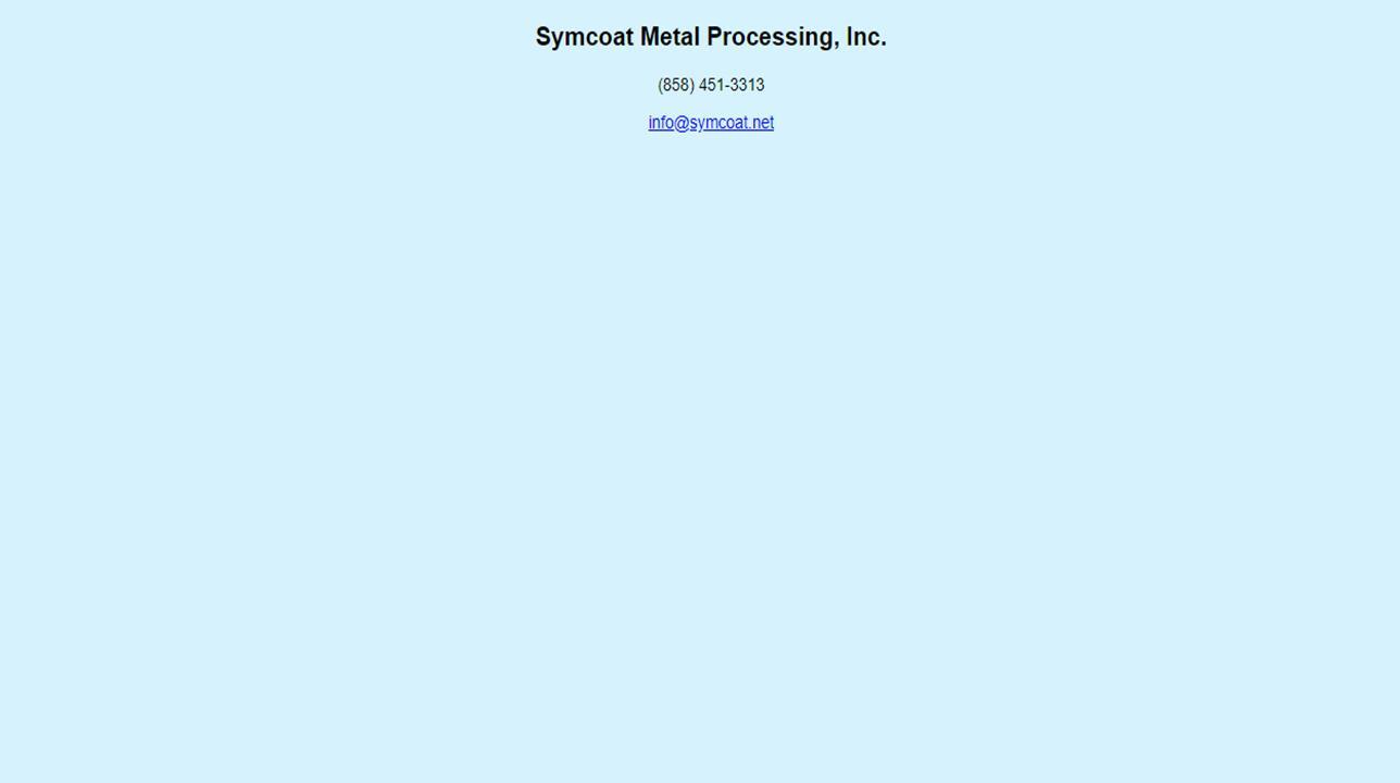 Symcoat Metal Processing, Inc.