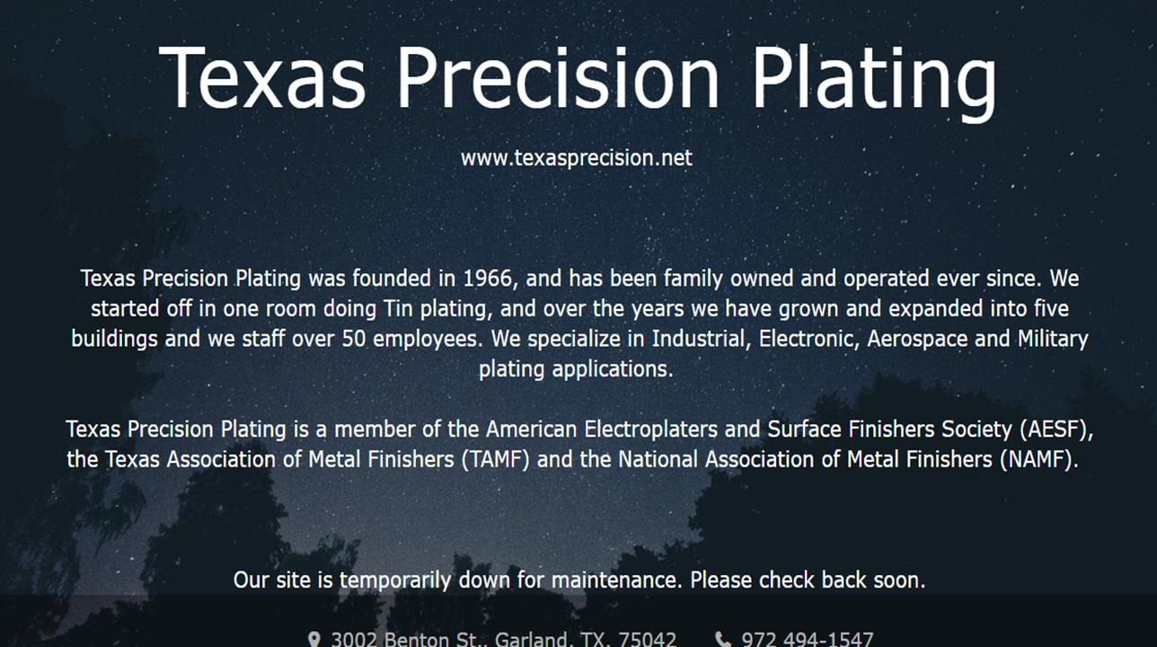 Texas Precision Plating
