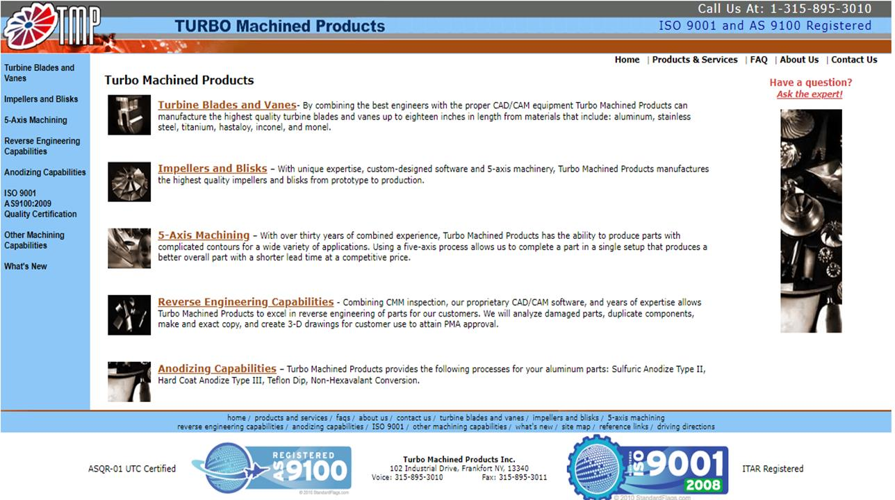 Turbo Machined Products Inc.